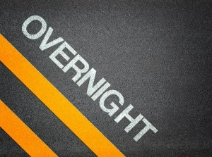 Overnight Text Writing Road Asphalt